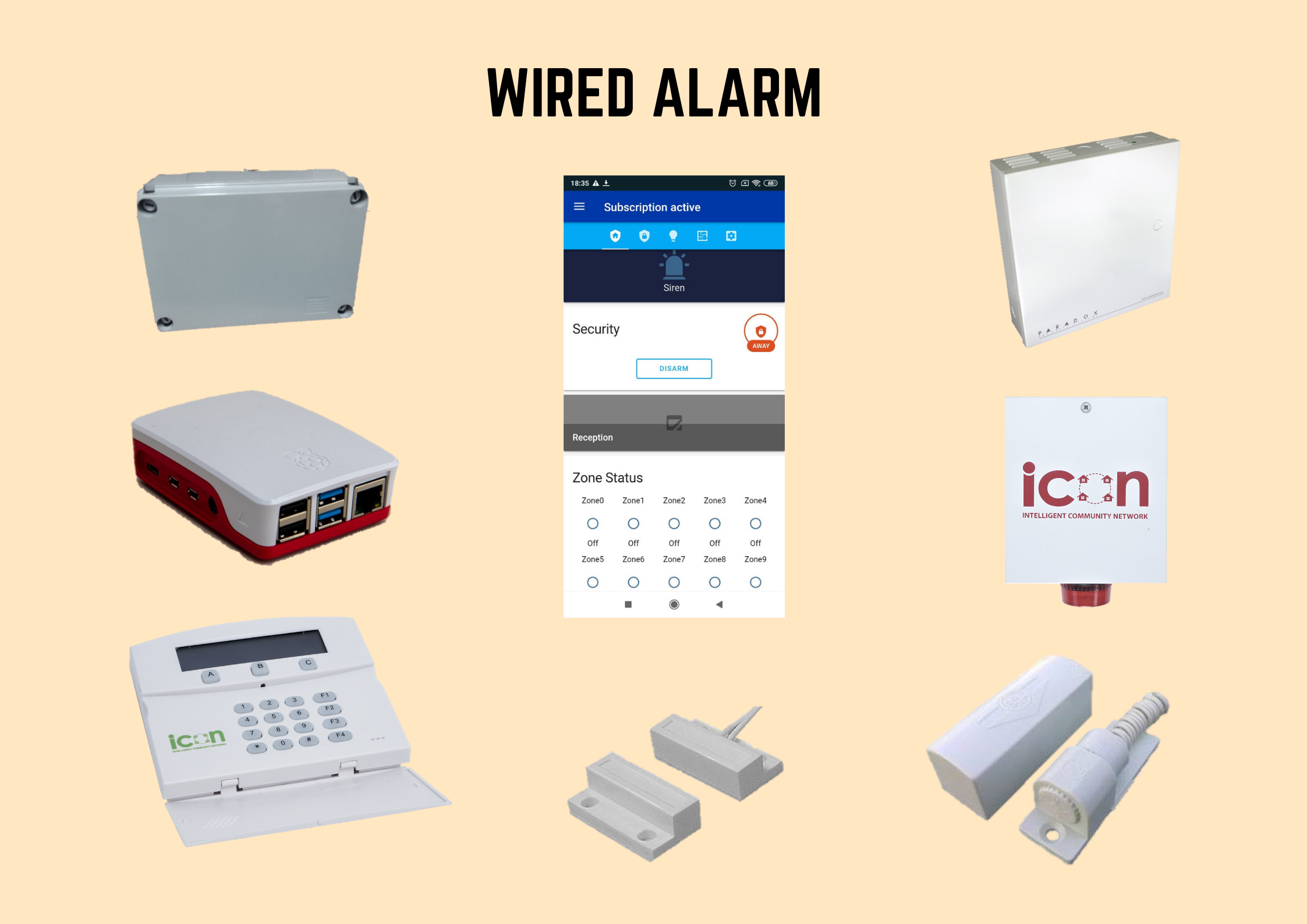 wired alarm